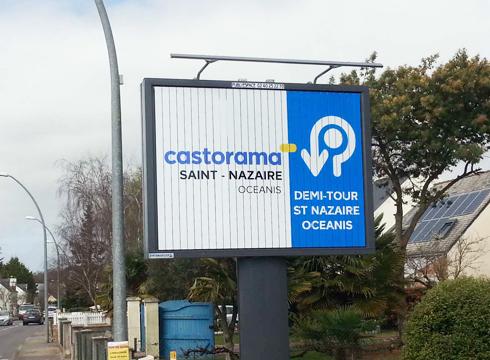 Affichage à Saint-Nazaire