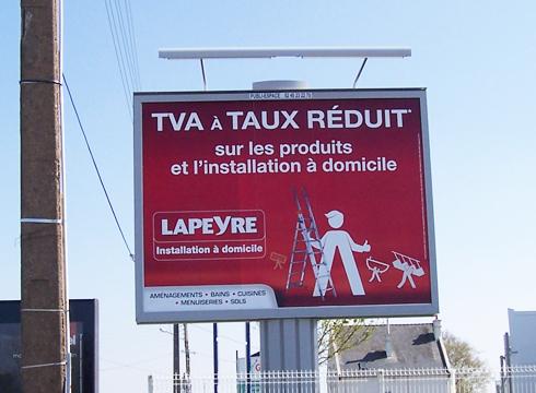 Affichage à Lorient
