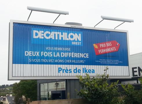 Affichage à Brest
